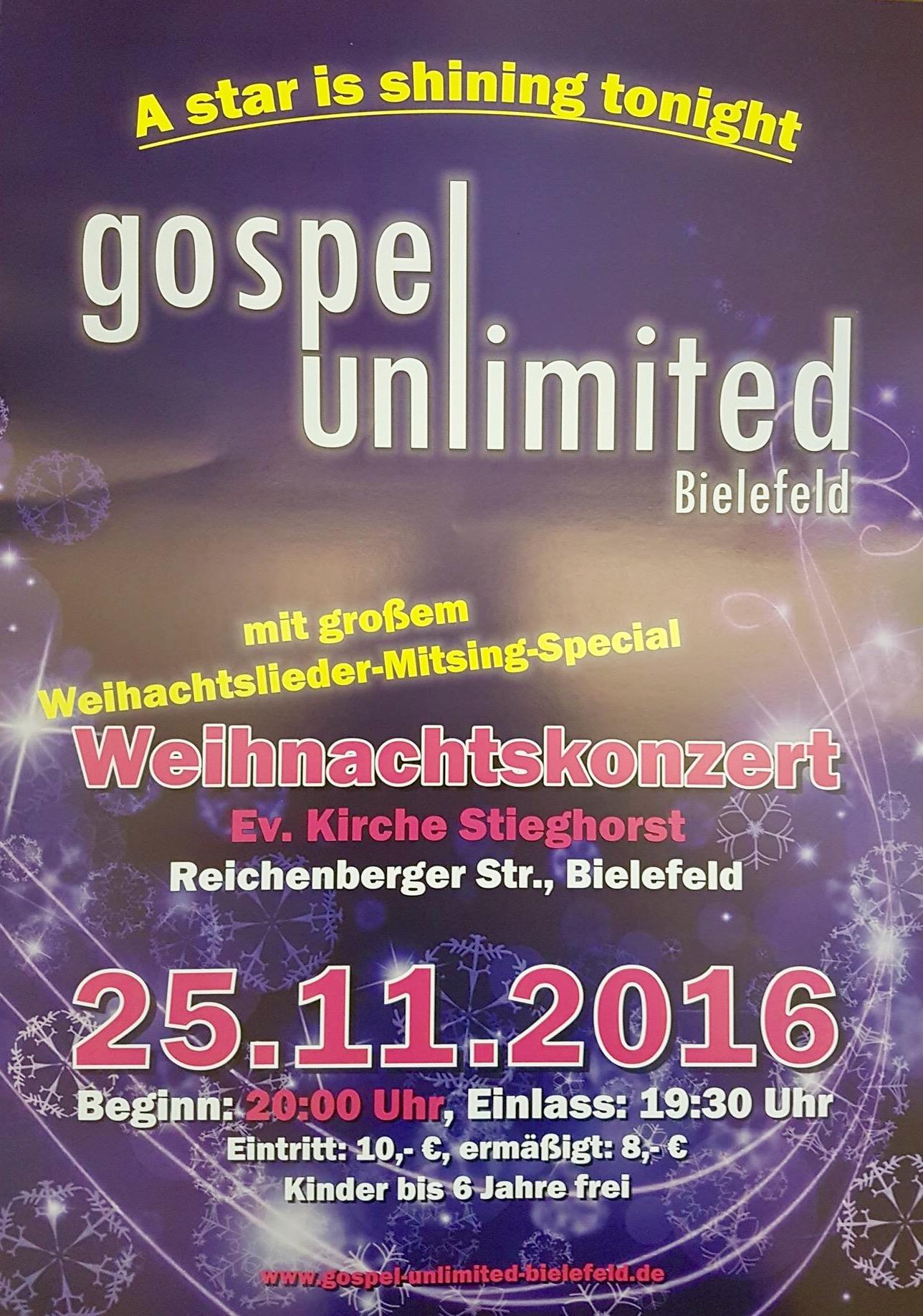 Gospel Unlimited Weihnachtskonzert