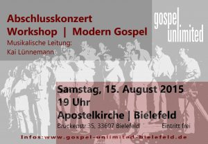 GU Plakat.Modern Gospel